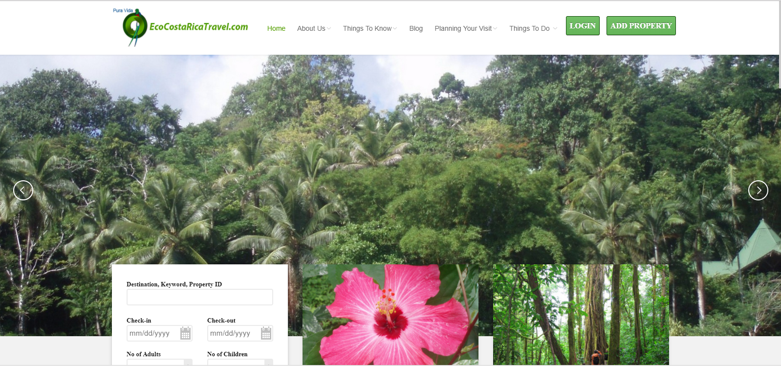 EcoCostaRica Travel website