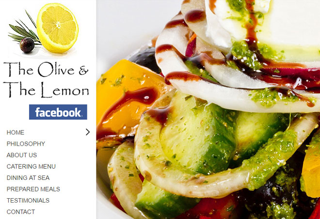 Olive and Lemon restaurant website