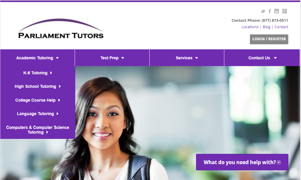 Parliament Tutors website